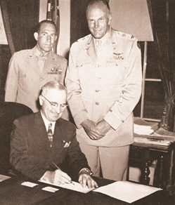 President Harry S. Truman signed Public Law 79-476 on July 1, 1946, incorporating the Civil Air Patrol
