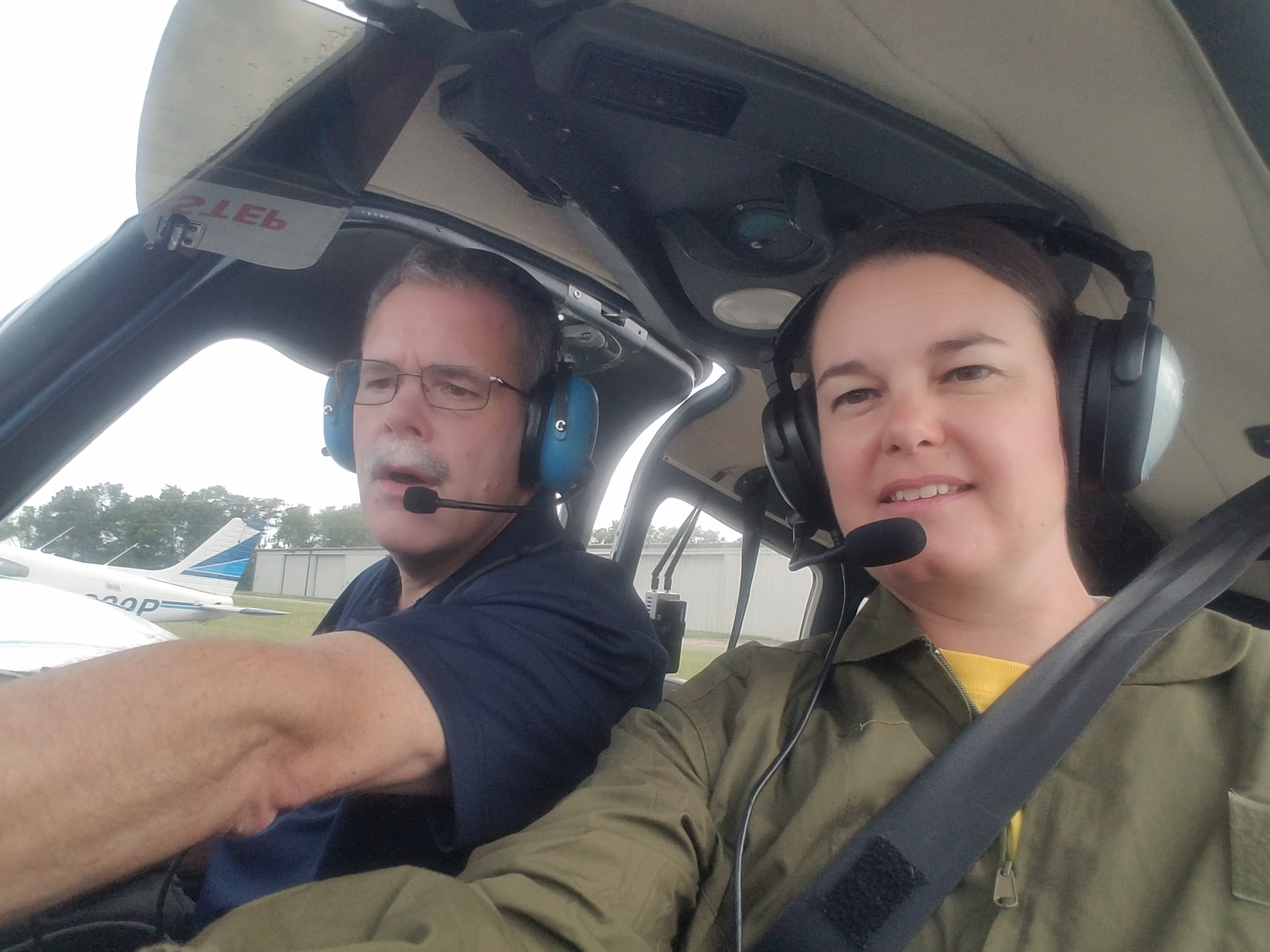 Teacher Tanya Anderson learns to fly at National Air Camp in Dayton, Ohio.