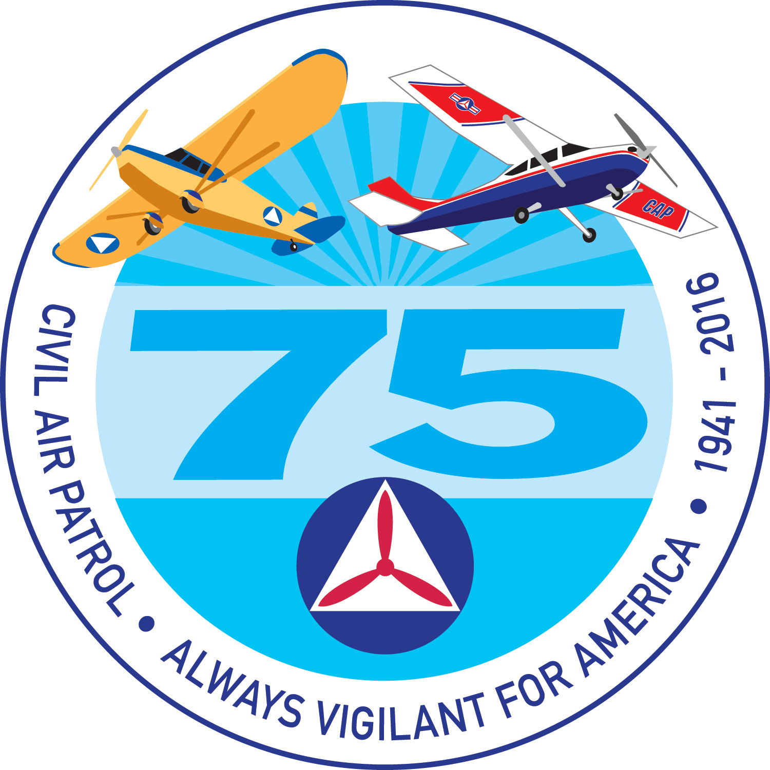 75th Anniversary Logos Civil Air Patrol National