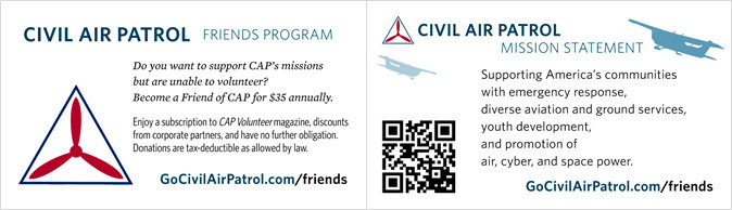 Business card templates civil air patrol national headquarters the cap logo is the preferred option for the cap business card however the command emblem or seal may be used if it would be more appropriate for the yelopaper Gallery