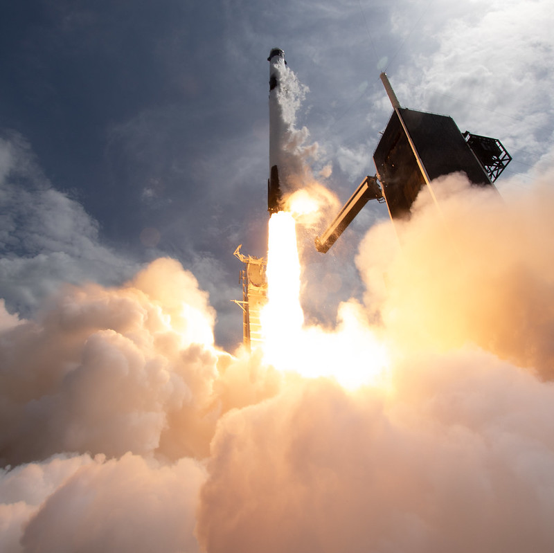 SpaceX launches from Kennedy Space Center