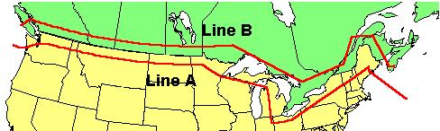 Communications Altitude Geographic Restrictions Civil Air Patrol - Us border zone map